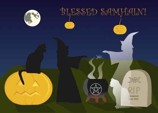 Samhain irish culture and traditions samhain greeting card m4hsunfo