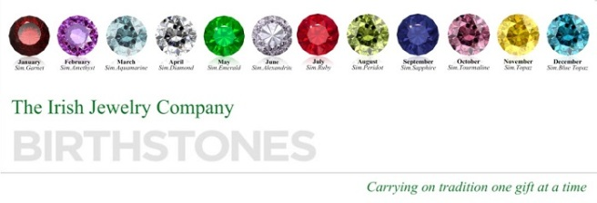 irish jewelry birthstones 700x240
